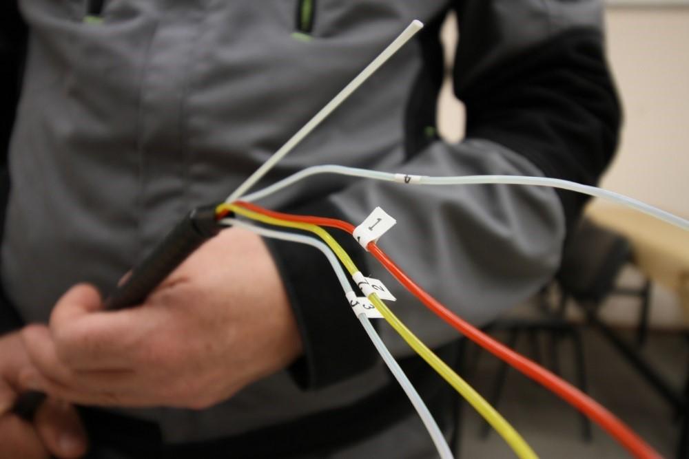 Подготовка кабеля для ввода в оптический кросс