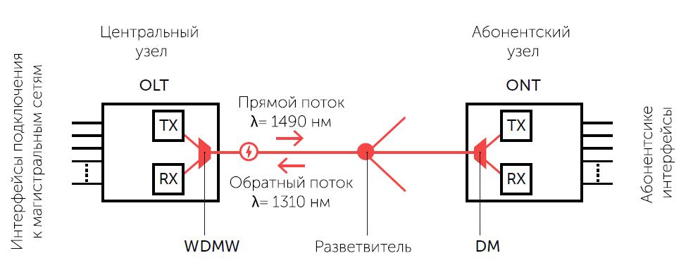 Архитектура сети PON